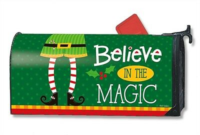 Elf is Watching Mail Box Wrap holiday magic magnetic mailwrap mailbox cover
