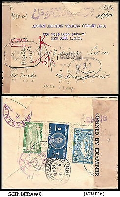Afghanistan - 1944 Envelope To New York, Usa With Stamps - Censord