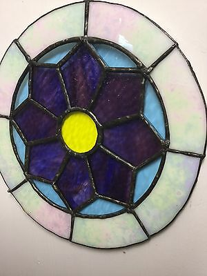 Preloved & Vintage - Round Stained Glass Wall Hanging