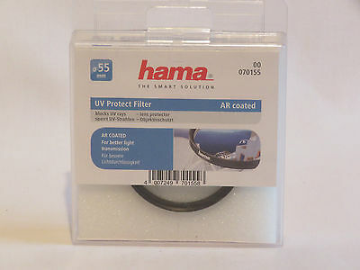 Hama 55 mm UV Protect Filter AR Coated Lens Protector
