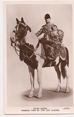 Royal Tournament, Drum Horse, Musical Ride by Life Guards RP Postcard, B608