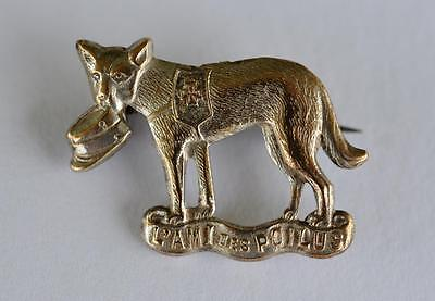 """WW1 French Red Cross Dog Fund Raising Pin ~ """"L'Ami Des Poilus"""""""