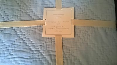 New Pottery Barn Kids Sky BLUE Washed VELVET Crib QUILT & CRIBSKIRT Luxurious