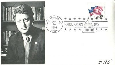 Bill Clinton 1993 Inauguration Day Photo Cachet Cover With Pictorial Pmk