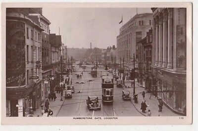 Leicester, Humberstone Gate Tram  RP Postcard B631