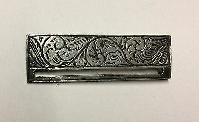 Solid Silver Patterned Victorian Full Size Medal Pin Clasp Suspender Crimea War
