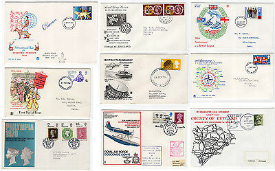 GB 12 covers - 7 Illustrated FDCs 1961 - 1981 & 5 events incl Churchill & RAF