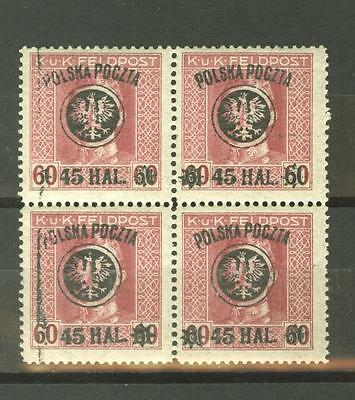 Poland  Fi.24 45/60h, MNH block of four
