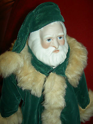 """""""Father Christmas"""" 1980 Santa Claus artist Beverly Walters U.F.D.C. bisque doll"""