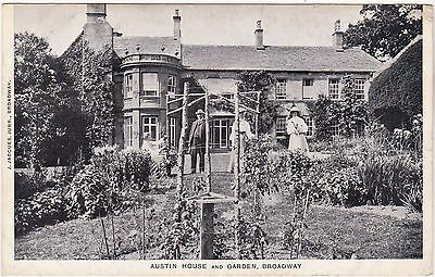 Worcestershire postcard AUSTIN HOUSE and GARDEN, BROADWAY early 1900's - Jacques