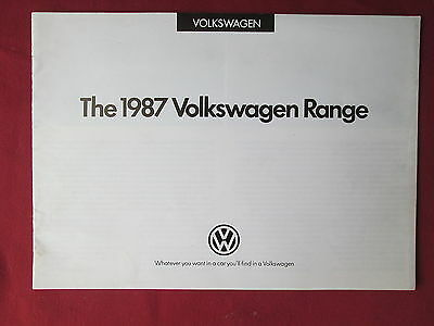 VW -1987 Volkswagen Range brochure 12 pages incl. the Golf Jetta Passat and Polo