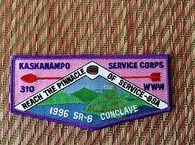 Kaskanampo Merged OA Lodge 310 Old Mint 1996 SR-8 Conclave Scout Flap Patch