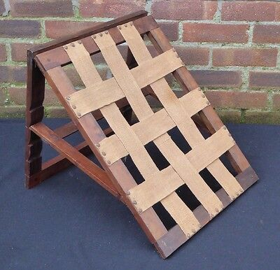 Vintage Wooden Adjustable Angle Folding Back Rest Bed Reading Sit Up Healthcare