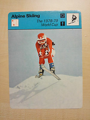 ALPINE SKIING - 1978/79 World Cup - Sportscaster Rencontre Card