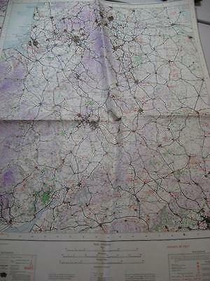 1937 Map Birmingham Manchester Leeds Hull Liverpool Oxford Doncaster Sheffield