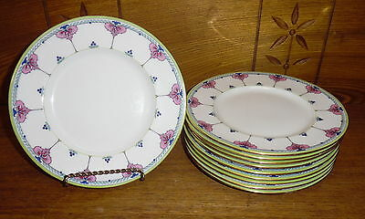 "10 Minton Porcelain Plates - Bailey Banks & Biddle - 7 3/4"" - H2837"
