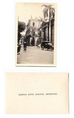 Early Photo  China, Hong Kong, Queens Road Central, 1930 RP