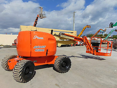 "Jlg 450-Aj ""articulating"" Diesel 4X4 Boom Man 45 Ft Basket Lift"