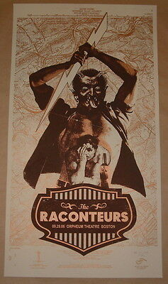The Raconteurs Rob Jones Boston Concert Poster Signed & Numbered 2006 Jack White