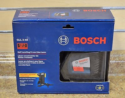 *Bosch GLL 2-45 Self Leveling Cross-Line Laser Level New Free Shipping