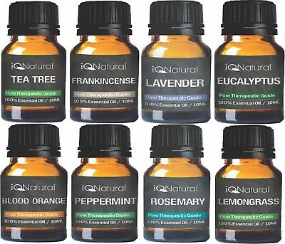 TOP 8 Essential oil Aromatherapy set 100% Pure Undiluted Therapeutic Grade