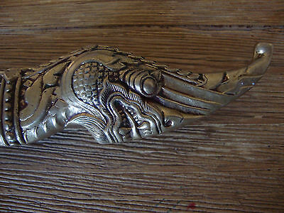 Vintage Solid Brass Asian /Oriental  Dragon Handle Knife! Crisply Detailed!