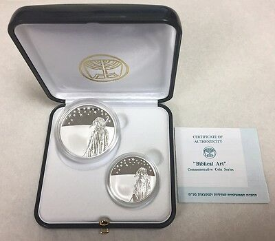 "Israel ""Biblical Art"" Series Two Coin Set Sterling Silver"