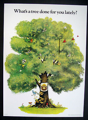 Usda Forest Service What'S A Tree Done For You Smokey Bear Advertising Sign