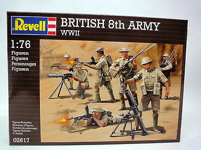 SOLDATINI 1:76 REVELL 2617 WWII BRITISH 8th ARMY NUOVO