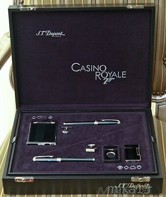 St Dupont 2006 James Bond 007 Casino Royal 6 Piece Collector Set With Cufflinks