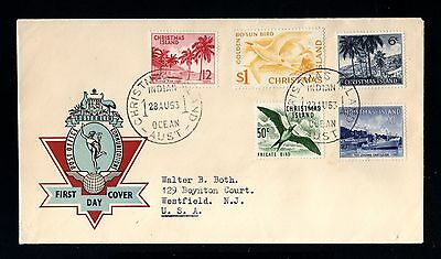 14929-CHRISTMAS ISLAND-FDC.COVER INDIAN OCEAN to WESTFIELD (usa).1963.British