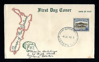 14803-WESTERN SAMOA-FIRST DAY COVER APIA.1949.WWII.British.