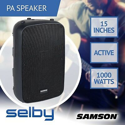 "Samson Auro X15D 1000W 15"" inch 2-Way Active PA Loudspeaker Speaker Pro Audio"