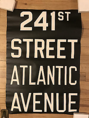 1957 NYC R22 New York Subway Sign Collectible 241st Street Atlantic Avenue