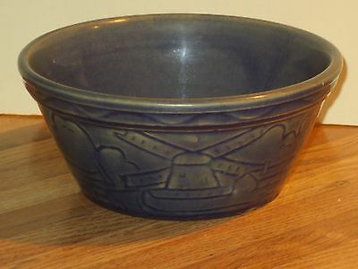 Saturday Evening Girls Pottery Bowl With Carved Trees And Windmills, Paul Revere
