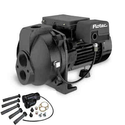 Flotec FP4207 - 8 GPM 3/4 HP Cast Iron Convertible Jet Pump w/ Injector Kit