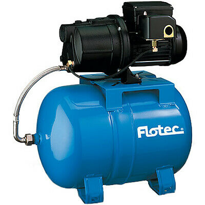 Flotec FP410515H - 5.6 GPM 1/2 HP Cast Iron Shallow Well Jet Pump w/ 15 Gallo...