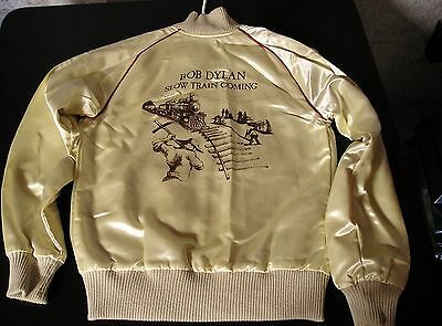 Bob Dylan-ORIGINAL 1979 Slow Train Coming-Columbia PROMO Satin Jacket-BEAUTIFUL!