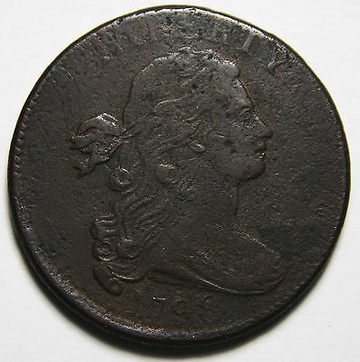 1798 Draped Bust Large Cent Scarce Coin Lot# MZ 4049