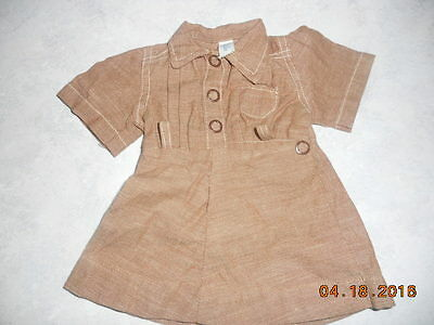 """Terri Lee 1950's Brownie Dress Embroidered or Stitched Tag for 16"""" doll"""