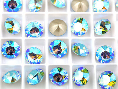 12 Aquamarine AB 1088 Swarovski Crystal Chaton Stone SS39 Foiled 8MM