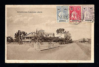 14946-ANGOLA-OLD POSTCARD LOBITO to ST.AUBAIN (france).1930.Portugal colonies.