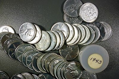 1943 Brilliant Uncirculated Roll Lincoln Cents