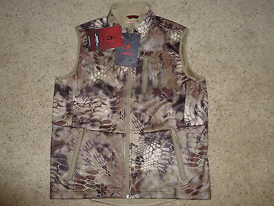 New Men's Large Kryptek Cadog Softshell Vest  Highlander Camo