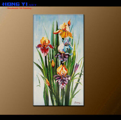 Framed Contemporary Wall Art Canvas Abstract Floral Oil Painting Artwork FY3736
