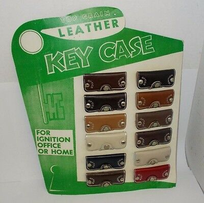 Vintage Complete Leather Key Case Store Display, For Car Ignition or Home