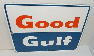 Vintage Good Gulf Porcelain Gas Pump Sign