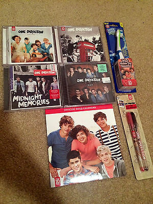 Lot of One Direction 1D CDs, 2013 Calendar, Musical Toothbrush, Pens!