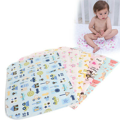 Infant Baby Diaper Nappy Urine Mat Kid Waterproof Bedding Changing Cover Pad New