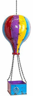 Luxury Hot Air Balloon Hanging Metal Planter Decorative Ornament Ideal Gift